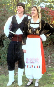 Dancers in the costumes of Crete