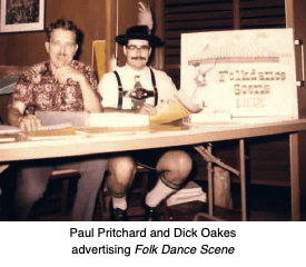 Paul Pritchard and Dick Oakes, first co-editors of Folk Dance Scene